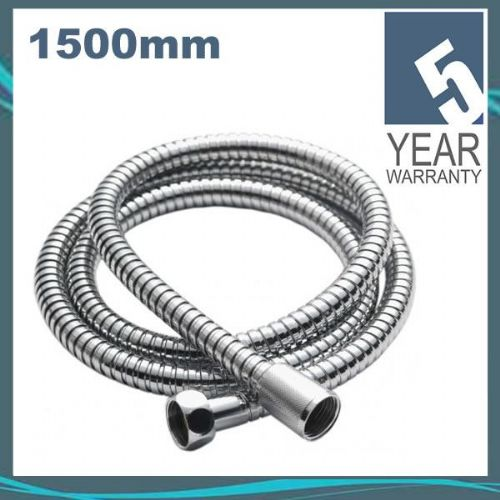 Pura KI190 Chrome Plated Stainless Steel Double Lock 1.5m Flexible Shower Hose for Wide Bore HOS6033